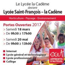 Journées Portes Ouvertes 2017 au Lycée agricole Saint-François-la-Cadene