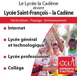 Le Lycée La Cadène devient Lycée Saint-François - La Cadène