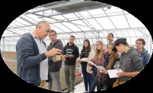 Dans le cadre d'un voyage d'étude, les étudiants en BTS production horticole du Lycée Saint-François_La Cadène sont partie en Ligurie (Italie) et PACA