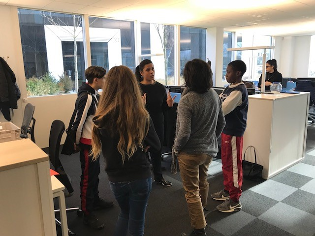 Proxité - visite collège La Cadène 4 - janvier 2018